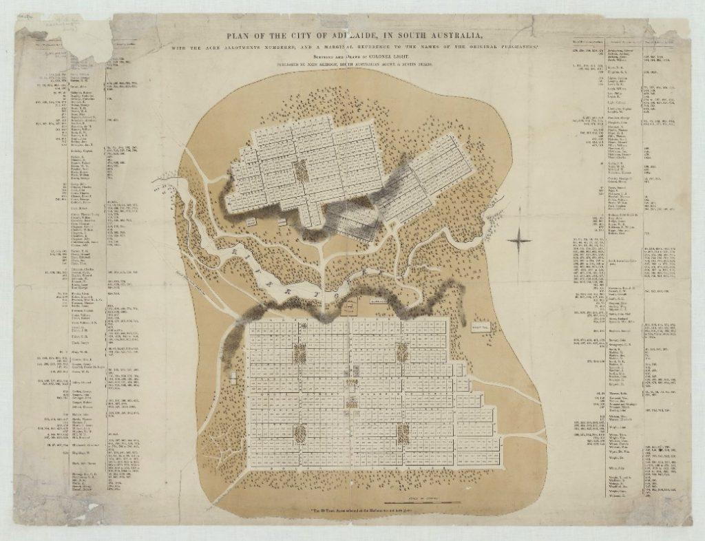 1840年阿德萊德城市規劃