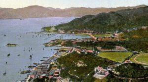 百多年前的銅鑼灣。海灣凹入位置為舊避風塘與高士威道。