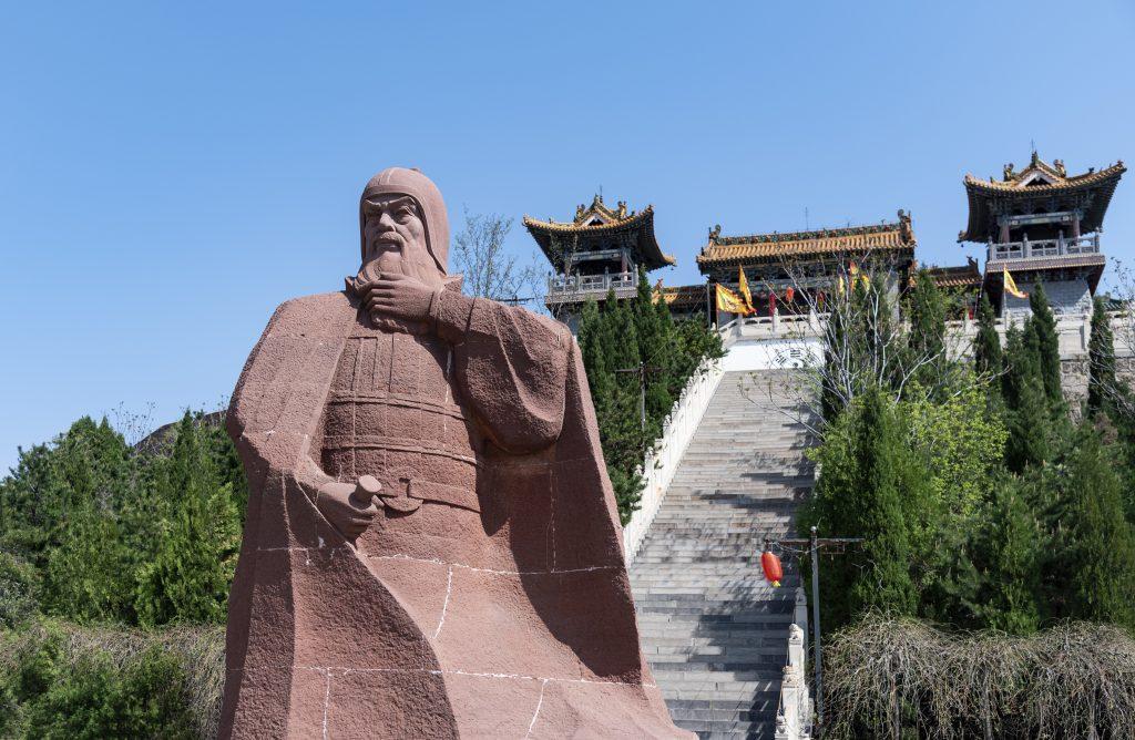長平之戰遺址的廉頗塑像