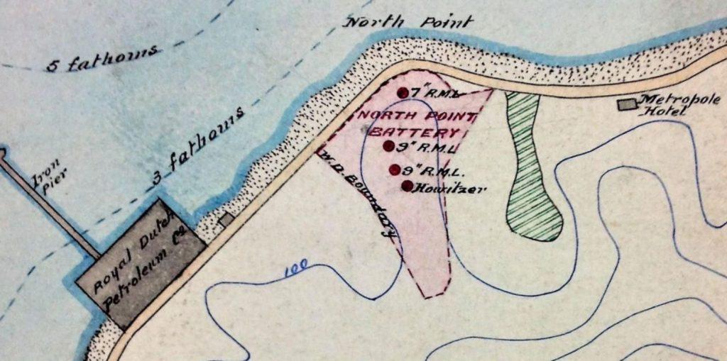 19世紀末,英軍設立「北角炮台」(North Point Battery),炮台山因而得名。